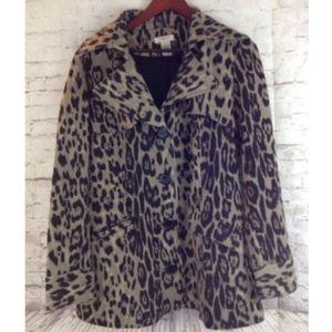 Vertigo Paris Women's Trench Coat Leopard Print